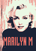Monroe Framed Prints - Marilyn M Framed Print by Chungkong Art