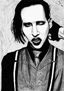 Marilyn Manson Framed Prints - Marilyn Manson Framed Print by Kohdai Kitano