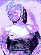Shoulder Digital Art Metal Prints - Marilyn Monroe 20130329 Metal Print by Wingsdomain Art and Photography