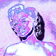 Shoulder Digital Art Posters - Marilyn Monroe 20130330 square Poster by Wingsdomain Art and Photography