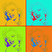 Actors Digital Art Posters - Marilyn Monroe 20130331 Four Poster by Wingsdomain Art and Photography
