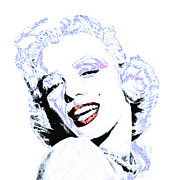 Shoulder Digital Art Posters - Marilyn Monroe 20130331 square Poster by Wingsdomain Art and Photography