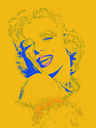 Shoulder Digital Art Metal Prints - Marilyn Monroe 20130331v2 Metal Print by Wingsdomain Art and Photography