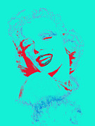 Shoulder Digital Art Metal Prints - Marilyn Monroe 20130331v2p128 Metal Print by Wingsdomain Art and Photography