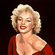 Singer Painting Framed Prints - Marilyn Monroe 3 Framed Print by Paul  Meijering