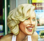 Norma Jean Prints - Marilyn Monroe 4 Print by Cindy Nunn