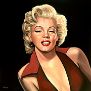 Singer Painting Metal Prints - Marilyn Monroe 4 Metal Print by Paul  Meijering