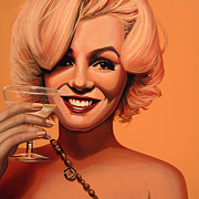Marilyn Monroe Paintings - Marilyn Monroe 5 by Paul  Meijering