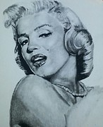 Los Angeles Pastels Framed Prints - Marilyn Monroe Framed Print by Aaron Balderas