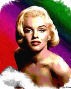 Hollywood Star Prints - Marilyn Monroe Print by Allen Glass