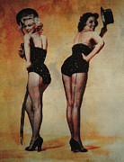 Marilyn Monroe And Jane Russell Print by EricaMaxine  Price