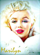 Los Angeles Digital Art Metal Prints - Marilyn Monroe Metal Print by Barbara Chichester
