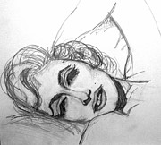 Baker Drawings Prints - Marilyn Monroe Print by Barbara Giuliano