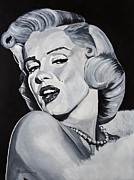 Monroe Painting Originals - Marilyn Monroe by Brian Broadway
