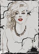 Featured Reliefs Originals - Marilyn Monroe Broken Wall by Creativehelper