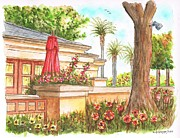 Urban  Drawings Paintings - Marilyn Monroe bungalow in Santa Monica - California by Carlos G Groppa