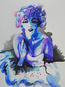 Famous Faces Painting Originals - Marilyn Monroe by Chrisann Ellis