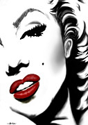 Seductive Mixed Media Framed Prints - Marilyn Monroe Framed Print by Christine Mayfield