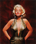 1950 Movies Paintings - Marilyn Monroe by Dick Bobnick