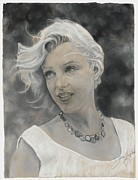 Actors Pastels - Marilyn Monroe by Donna Dalgewicz