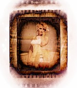 Photo Manipulation Photo Framed Prints - Marilyn Monroe Film Framed Print by EricaMaxine  Price