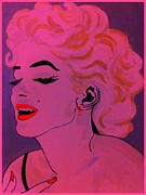 Some Like It Hot Prints - Marilyn Monroe in Pink Print by Saundra Myles