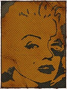 Marilyn Monroe Framed Prints Posters - Marilyn Monroe in pop art Poster by Robert Margetts