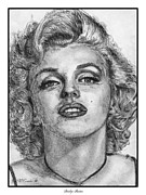 Greyscale Drawings - Marilyn Monroe by J McCombie
