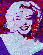 Actors Digital Art Framed Prints - Marilyn Monroe Framed Print by Jack Zulli