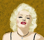 Platinum Blonde Prints - Marilyn Monroe  Print by Kate Farrant