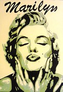 Iconic Paintings - Marilyn Monroe Kiss by Grant  Swinney