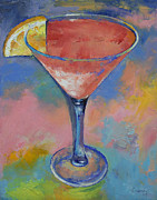 Cocktails Paintings - Marilyn Monroe by Michael Creese