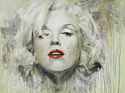 Marylin Paintings - Marilyn Monroe by Oleg Trofimoff