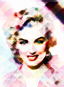 Photo Manipulation Mixed Media Posters - Marilyn Monroe Pastel Poster by EricaMaxine  Price