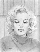 Norma Jean Drawings - Marilyn Monroe by Pat Moore