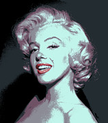Award Digital Art Metal Prints - Marilyn Monroe Pop Art Metal Print by Daniel Hagerman