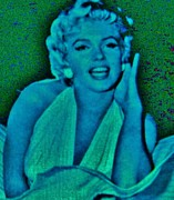 Marilyn Monroe Framed Prints Posters - MARILYN MONROE  Pop Art Poster by Gunter  Hortz