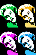 Sitting  Digital Art Posters - Marilyn Monroe Pop Art Poster by Natalie Kinnear