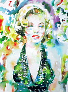 Actors Prints - Marilyn Monroe Portrait.1 Print by Fabrizio Cassetta