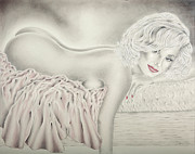 Some Like It Hot Prints - Marilyn Monroe Reclining Nude Print by Vincent Wolff