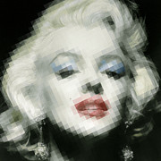 Film Star Mixed Media Prints - Marilyn Monroe Print by Tony Rubino