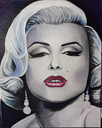 Portrait Of Marilyn Monroe Painting Originals - Marilyn Monroe by Victoria  matamoros