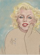 P J Lewis - Marilyn on blue