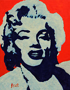 Portraits Paintings - Marilyn  by Oscar Penalber
