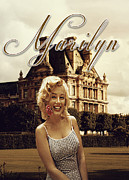 Paris Digital Art Posters - Marilyn Paris Monroe Poster by Greg Sharpe