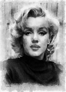 Marilyn Munroe Framed Prints - Marilyn Framed Print by Patrick OHare
