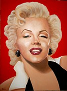 Marylin Paintings - Marilyn by Paul Bennett