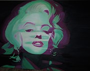 Pop Icons Painting Originals - Marilyn by Paula Justus
