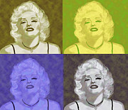 Kate Farrant Art - Marilyn Quartet by Kate Farrant