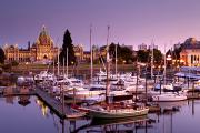 Featured Art - Marina At Dusk, Victoria, Vancouver by Mathieu Dupuis